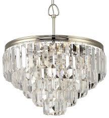 triomphe 6 light 5 tier crystal