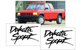 Graphic Express 1996 Dodge Dakota Dakota Sport Fender Decal Set