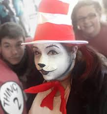 how to do cat in the hat face makeup