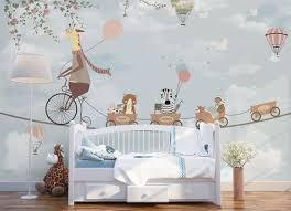 Dr Giraffe Kids Wallpaper Removable Boys Bedroom Wall Mural Etsy Kids Wallpaper Nursery Walls Kids Playroom Decor