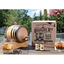 oak barrel whiskey making kits on