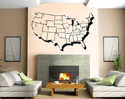Amazon Com Usa Map With States Outline Atlas Decor Wall Mural Vinyl Decal Sticker P305 Home Kitchen