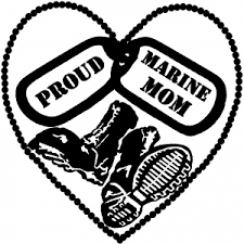Proud Marine Mom Dog Tags Heart Combat Boots Car Or Truck Window Decal Sticker Rad Dezigns