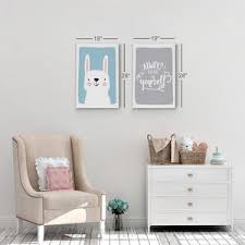 Cute Rabbit And Motivational Quote Blue And Gray Background 2 Pieces S Smile Art Design