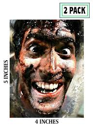 2 Pack Bruce Campbell Photo Stickers Vinyl Decal Evil Dead