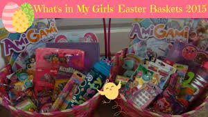 what s in my s easter baskets 2016