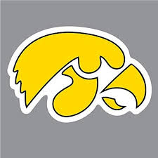 Amazon Com Iowa Hawkeyes Hawkeye Logo 4 Vinyl Decal University Of Iowa Car Window Sticker Everything Else