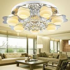 2020 led crystal flush mount ceiling