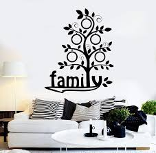 Vinyl Wall Decal Family Genealogical Tree House Interior Stickers Uniq Wallstickers4you