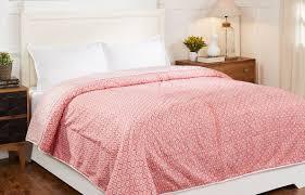 Buy Online Ivy Bell Pink 100% Cotton Screen Printed Dohar @ 2980.00 Rs.    RatanJaipur.com