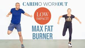 Fat burning, high intensity, low impact home cardio workout - YouTube