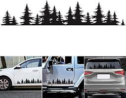 Amazon Com Greceyou Pine Tree Forest Sticker For Car Vinyl Decal Window Mountains Coast Graphic Sticker For Auto Door Window Bumper Decor Kitchen Dining
