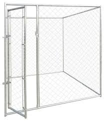 Vidaxl Outdoor Dog Kennel 6 X6 X6 Large Chain Link Fence Enclosure Run House Contemporary Dog Houses By Vida Xl International B V