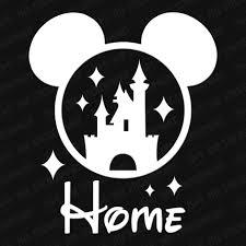 Disney Cinderella S Castle Mickey Ears Home Vinyl Decal The Stickermart