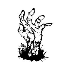 Zombie Hand Vinyl Sticker