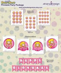 Princess Peach Party Decorations Mario Princess Printable