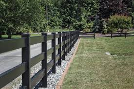 3 Rail Horse Fencing Black Horse Fencing Black Ranch Rail Fencing Blackline Hhp