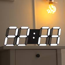 New 3d Sticker Wall Watch Modern Silent Kids Bathroom Electronic Home Nixie Kitchen Digital Wall Clock Electronic Desk Oclock 50b060 In Wall Clocks From Home Garden Peony Bridal Bouquet