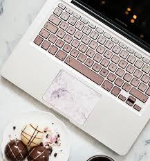 Laptop Keyboard Stickers Metallic Rose Gold Ombre Keyshorts