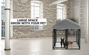 Bms Dog Pen Dog Fence Dog House Playpen Outdoor Camping Large Heavy Duty Dog Crate Kennel Cage With Reversibel Cover 4 X 4 X 4 3 7 5 X 3 75 X 5 8feet Live Plants Pet Supplies