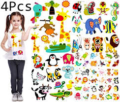 Amazon Com Baby Iron On Transfers Patches Set Kids Appliques Animal Patches For Clothes Girls T Shirt Cute Cartoon Assorted Patterns Diy Iron On Stickers Clothes Decorations