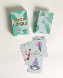 yoga poses workout cards oliver bonas