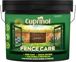 Cuprinol Less Mess Fence Care Rustic Brown 9 Litres Amazon Co Uk Diy Tools