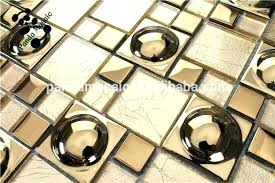 mirror tiles self adhesive wall gold