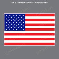 American Flag Usa Bumper Sticker Vinyl Window Decal