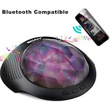 White Noise Machine Bluetooth Speaker With Remote For Baby Colorful Nightlight Night Light Projector Sound Machine