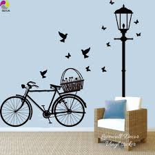 Street Lamp Bike Wall Sticker Living Room Light Bicycle Bird Butterflies Wall Decal Bedroom Baby Nursery Kids Room Vinyl Decor Aliexpress