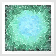 abstract sea glass art print by