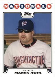 Amazon.com: 2008 Topps #242 Manny Acta MLB Baseball Trading Card ...