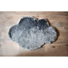 mercer41 mull cloud faux sheepskin gray