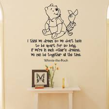 Amazon Com Wall Decals Winnie The Pooh Quotes I Think We Dream So We Don T Have To Be Apart For So Long Classic Pooh Wall Decal Quote Nursery Kids Q017 Home Improvement