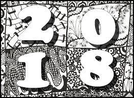 Anti Stress Kleurplaten Nieuwjaar 2018 6