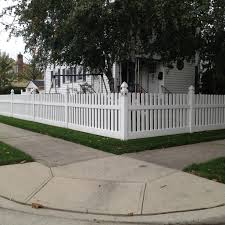 4 Venus With Dog Ear Caps Pvc Picket Fence Fabricated And Installed By Liberty Fence Railing Gothic Post Caps Doub Backyard Fences Fence How To Make Fence