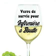 Decal Cup Sticker Cut Wine Glass Of Survival For Nurse Boutte Etsy