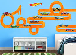 Build A Hot Wheels Track In Any Way You Like With This Awesome Wall Decal Set Create A Exciting Jump And Rad Hot Wheels Room Hot Wheels Bedroom Hot Wheels Diy