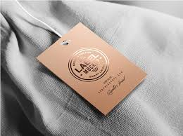 clothing label mockup psd template