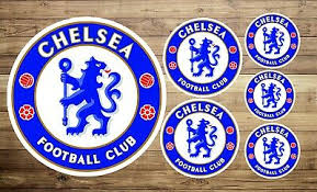 Chelsea F C 2x Vinyl Stickers 13cm Wide Sticker Sporting Goods Football