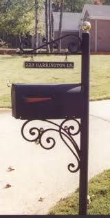 Aluminum And Wrought Iron Mailbox Stands Wrought Iron Mailbox Mailbox Post Metal Mailbox