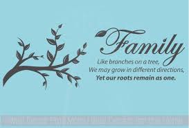 Family Like Branches On A Tree Wall Decor Vinyl Decals Sticker Wall Lettering 32x12