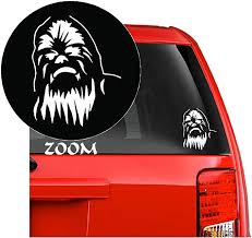 Amazon Com Star Wars Chewbacca Head Vinyl Decal Sticker For Car Window Laptop Wall Room Chewbacca Head 5 5 Inches White Home Improvement