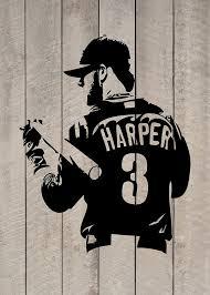 Amazon Com Bryce Harper Philadelphia Phillies Baseball Vinyl Sticker Wall Decal Handmade