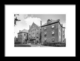 Mount Holyoke College Porter Hall Framed Print by University Icons