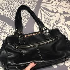 tignanello bags black leather purse