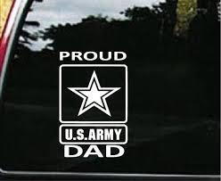Army Proud Dad Military Window Decal Stickers Custom Sticker Shop