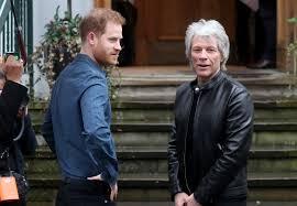 Harry & Meghan back in UK; he visits Abbey Road with Jon Bon Jovi