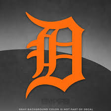 Detroit Tigers Logo Vinyl Decal Sticker 4 And Larger 30 Colors Available Ebay